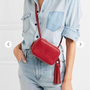 Ysl Saint Laurent belt bag red bumbag waist bag